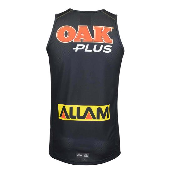 Penrith Panthers 2019  Men's Training Singlet, Black, rebel_hi-res