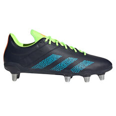adidas Kakari Rugby Boots Navy US Mens 9 / Womens 10, Navy, rebel_hi-res