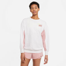 Nike Womens Dri-FIT Get Fit Fleece Graphic Sweater White XS, White, rebel_hi-res