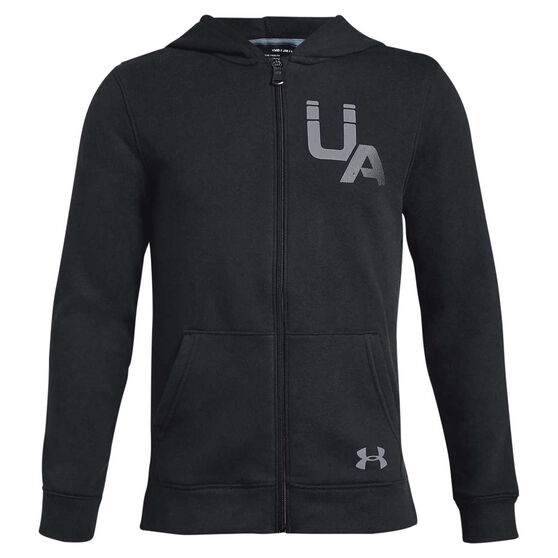 Under Armour Boys Rival Logo Full Zip Hoodie, , rebel_hi-res