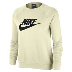 Nike Womens Sportswear Essential Fleece Sweatshirt White XS, White, rebel_hi-res