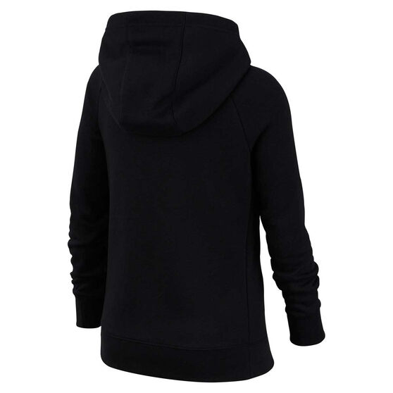 Nike Girls Sportswear Full Zip Hoodie, Black, rebel_hi-res