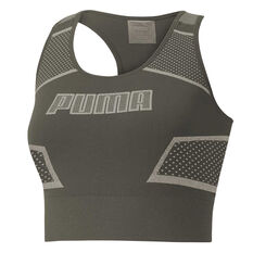 Puma Womens Evoknit Crop Top Forest XS, , rebel_hi-res