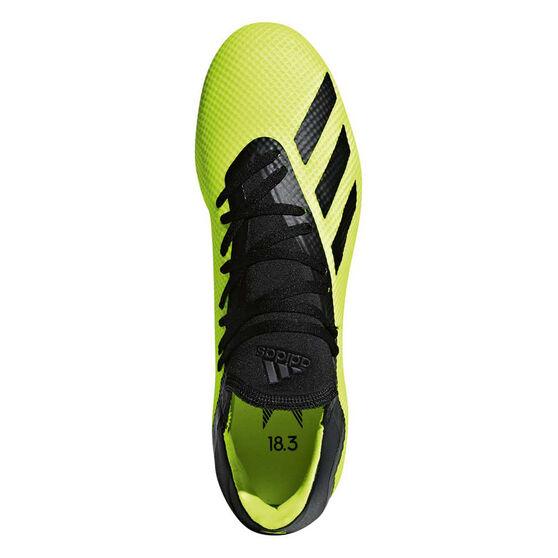 adidas X 18.3 Mens Football Boots, Yellow / Black, rebel_hi-res