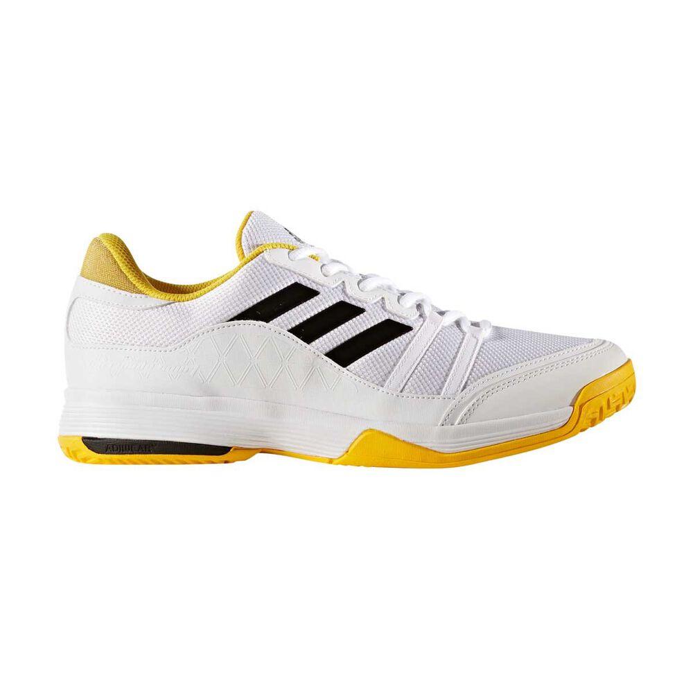 hot sales 7cce7 e4b23 adidas Barricade Court Mens Tennis Shoes White   Black US 9, White   Black,