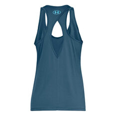Under Armour Womens Tech Graphic Tank Blue XS, Blue, rebel_hi-res