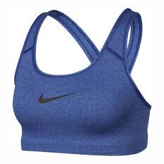 Nike Womens Swoosh Sports Bra Blue XS, , rebel_hi-res