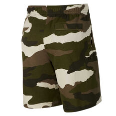 Nike Mens Sportswear Club French Terry Camo Shorts Camo XS, Camo, rebel_hi-res