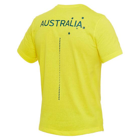 Asics Mens Australian Olympic Village Tee, Yellow, rebel_hi-res