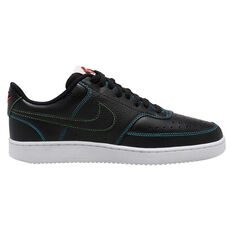 Nike Court Vision Low Mens Casual Shoes Black/Crimson US 6, Black/Crimson, rebel_hi-res