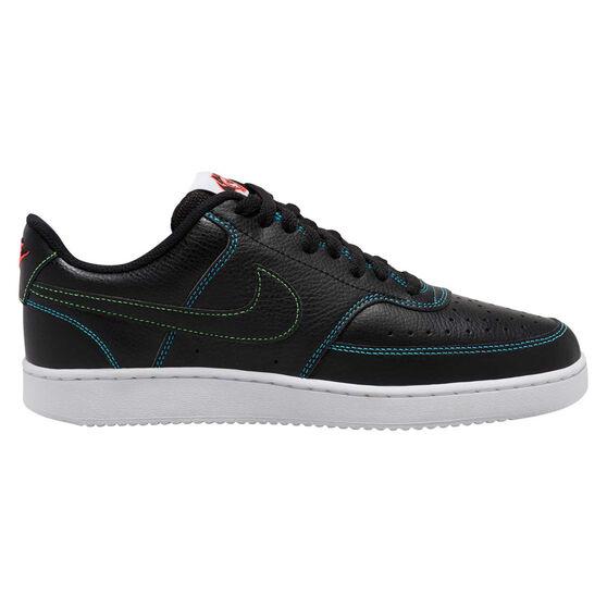 Nike Court Vision Low Mens Casual Shoes, Black/Crimson, rebel_hi-res