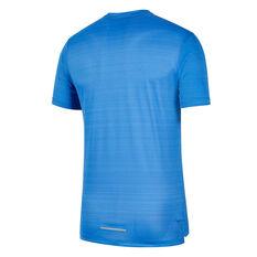 Nike Mens Dri-FIT Miler Graphic Running Tee Blue XS, Blue, rebel_hi-res