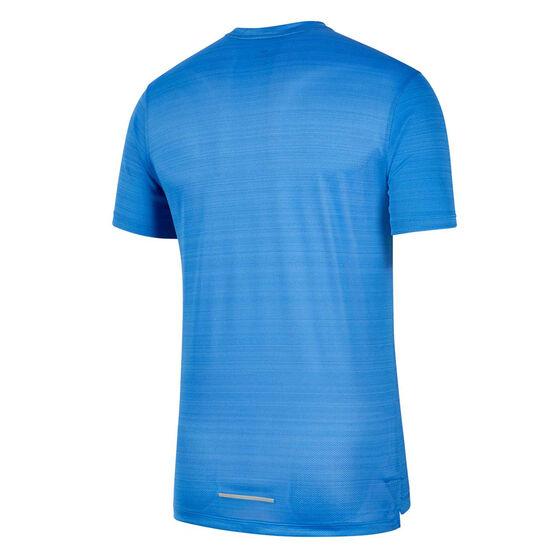 Nike Mens Dri-FIT Miler Graphic Running Tee, Blue, rebel_hi-res