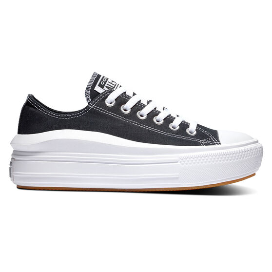 Converse Chuck Taylor All Star Move Platform Womens Casual Shoes, Black/White, rebel_hi-res