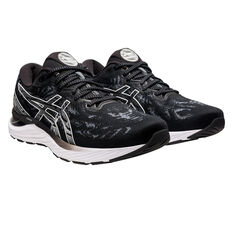 Asics GEL Cumulus 23 D Womens Running Shoes, Black/White, rebel_hi-res