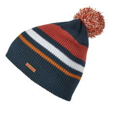 Elude Mens Stripe Pom Beanie Blue / Red OSFA, , rebel_hi-res