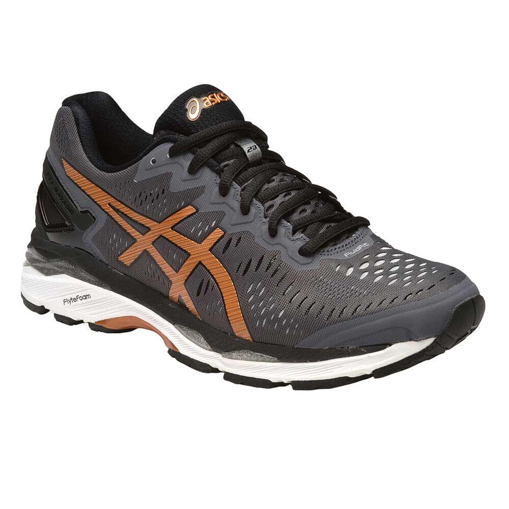 57c847008569 Asics Gel Kayano 23 Mens Running Shoes Grey   Orange US 7