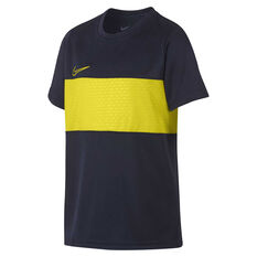 Nike Boys DriFIT Academy Football Top Navy / Yellow XS, Navy / Yellow, rebel_hi-res