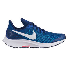 Nike Air Zoom Pegasus 35 Kids Running Shoes Blue / White US 1, Blue / White, rebel_hi-res