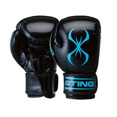 Sting Armaplus Junior Boxing Gloves Black / Aqua 6oz, , rebel_hi-res