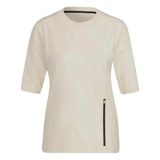 adidas Womens Z.N.E Sportswear Tee, White, rebel_hi-res