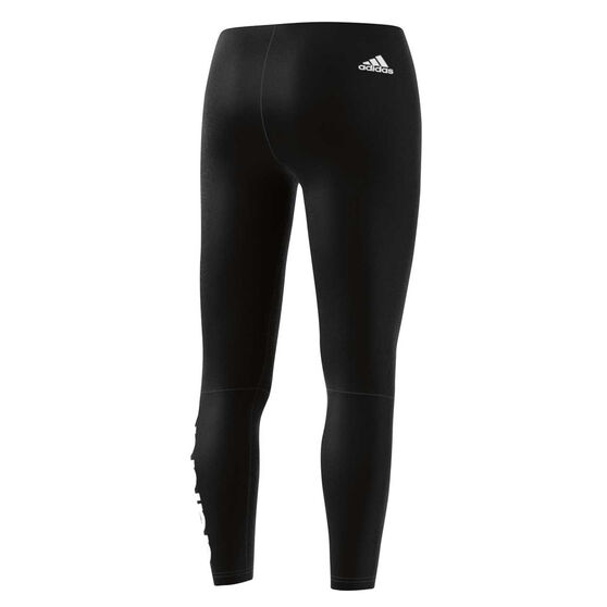 adidas Womens Essentials Linear Tights, Black / White, rebel_hi-res