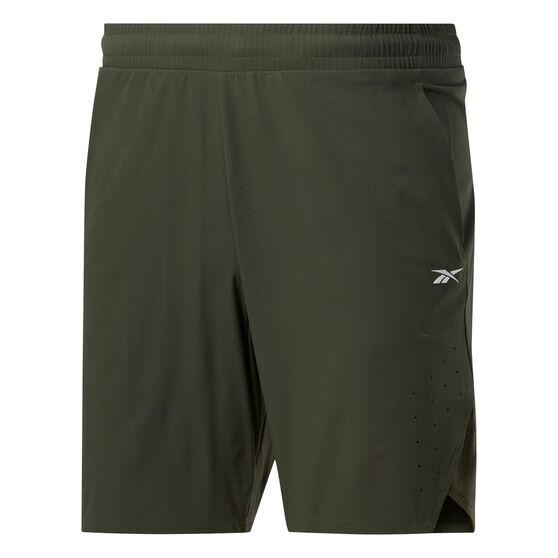 Reebok Mens United By Fitness Epic Shorts Green M, Green, rebel_hi-res