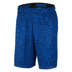 Nike Mens Dri-FIT 4in Training Shorts Blue S, Blue, rebel_hi-res