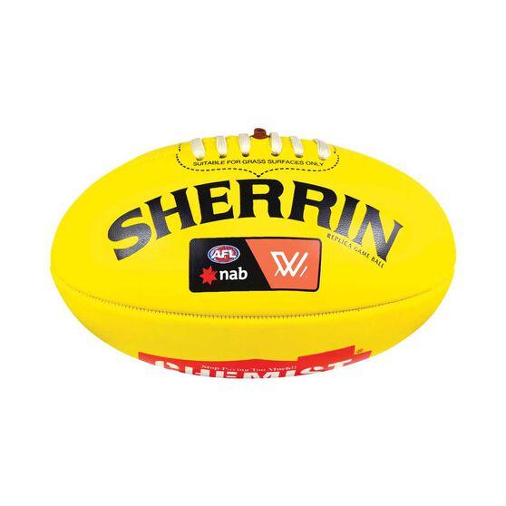 Sherrin AFLW Mini Replica Game Ball Yellow 3, , rebel_hi-res