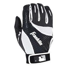 Franklin Senior Baseball Batting Glove Black / White S, Black / White, rebel_hi-res
