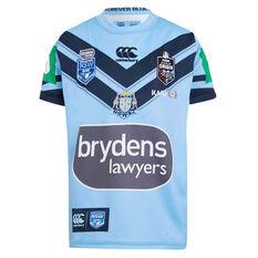 NSW Blues 2019 Kids Jersey Blue 8, Blue, rebel_hi-res