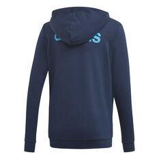 adidas Boys Essentials Linear Full Zip Hoodie Navy 8, Navy, rebel_hi-res