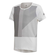 adidas Girls Bold Tee White / Black 8, White / Black, rebel_hi-res