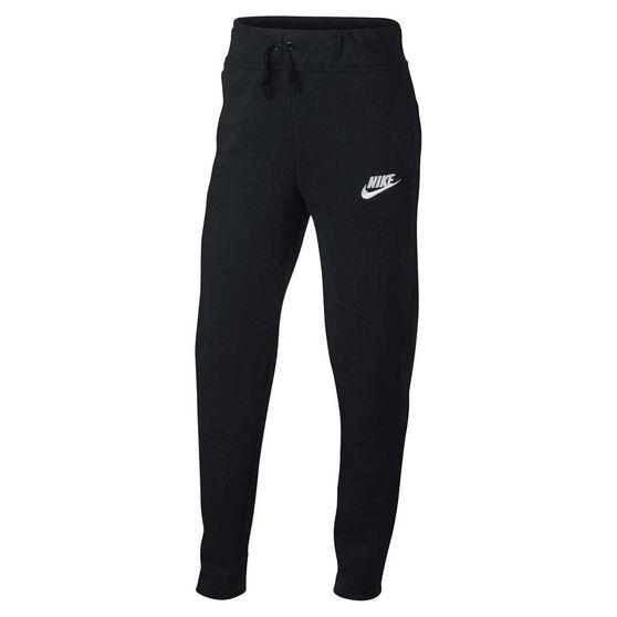 Nike Girls Sportswear Pants, Black / White, rebel_hi-res