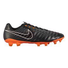 Nike Tiempo Legend VII Pro FG Mens Football Boots Black / Orange US 7 Adult, Black / Orange, rebel_hi-res