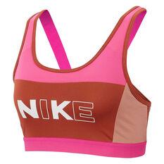 Nike Womens Classic Sports Bra Pink XS, Pink, rebel_hi-res