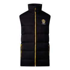 Richmond Tigers 2020 Mens Down Vest Black S, Black, rebel_hi-res