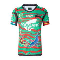 South Sydney Rabbitohs 2021 Mens Indigenous Jersey Green S, Green, rebel_hi-res