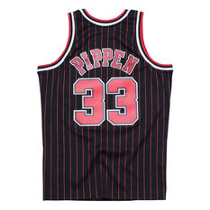 e4d3c10a166b91 ... Chicago Bulls Pippin 33 Pinstripe Swingman Jersey Black / Red S, Black  / Red,