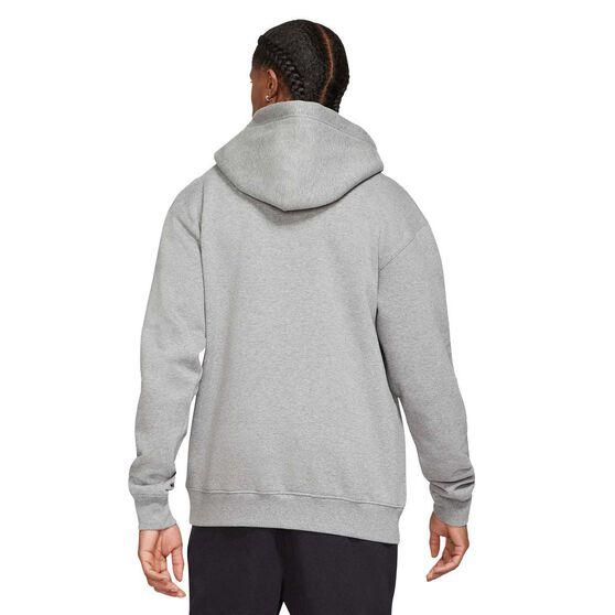 Jordan Essentials Mens Fleece Pullover Hoodie, Grey, rebel_hi-res