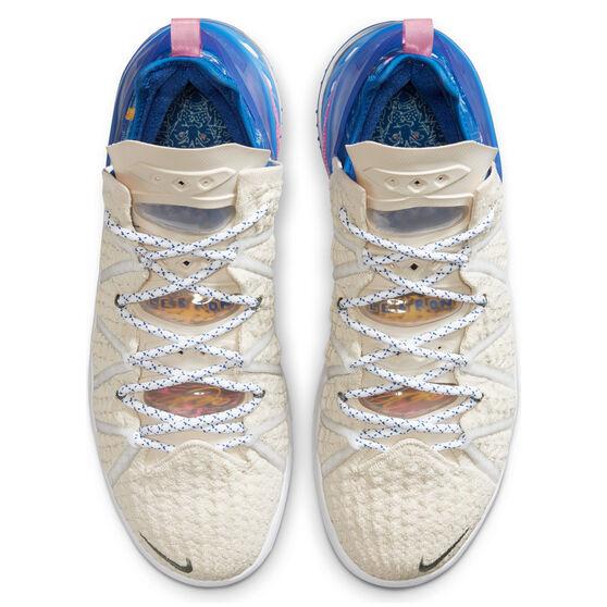 Nike LeBron XVIII Mens Basketball Shoes, White, rebel_hi-res