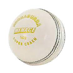 Kookaburra Menace 156g Cricket Ball White 156g 156g, White, rebel_hi-res
