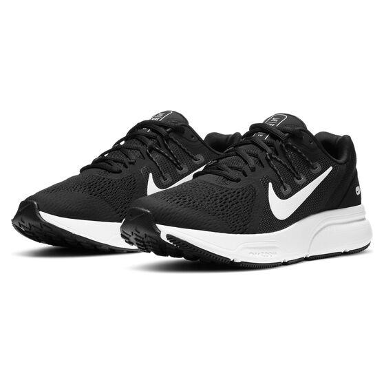 Nike Zoom Span 3 Womens Running Shoes, Black/White, rebel_hi-res