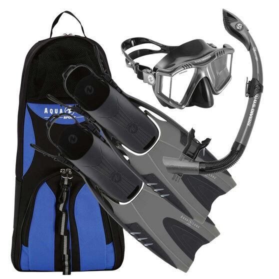 Aqua Lung Sport Adult Prism Snorkel Set, Grey, rebel_hi-res