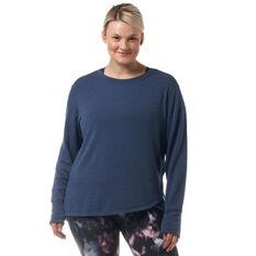Ell & Voo Womens Amanda Pullover Sweatshirt, Navy, rebel_hi-res