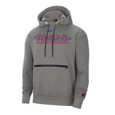 Philadelphia 76ERS Courtside Nike Mens Hoodie Grey S, Grey, rebel_hi-res