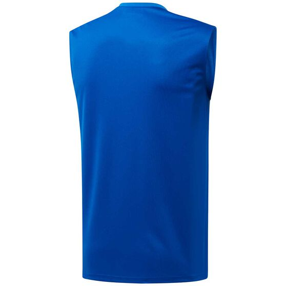 Reebok Mens Workout Ready ACTIVCHILL Muscle Tank, Blue, rebel_hi-res