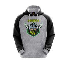 Canberra Raiders 2019 Mens Hoodie Grey S, Grey, rebel_hi-res