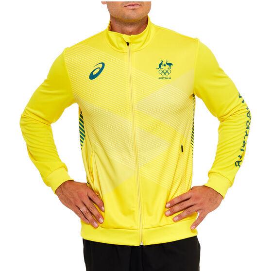 Asics Mens Australian Olympic Replica Podium Jacket, Yellow, rebel_hi-res