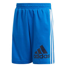 adidas Boys Must Haves BOS Shorts Blue / Navy 10, Blue / Navy, rebel_hi-res